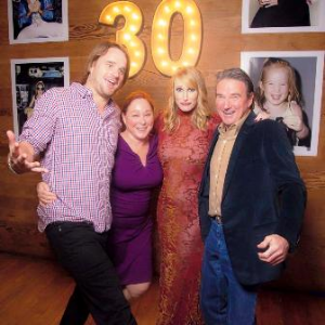 Aubree Connor's 30th with brother Brett and mom and dad--Patti and Jimmy
