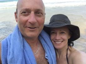 Elysabeth Alfano and Ken Kornbluh in Mexico