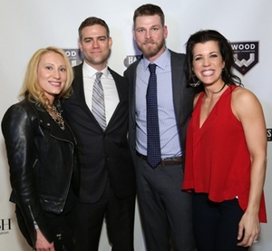 Marie Whitney Epstein and Theo Epstein with Kerry and Sarah Wood.