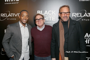 Co-star Anthony Mackie, director Mike Binder and Kevin Costner