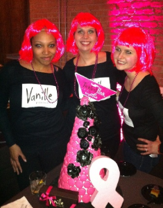 Vanille president Sophie Evanoff and friends.