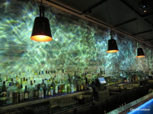 """Dramatic """"moving"""" bar at Hakkasan rest. at the Fontainebleau"""