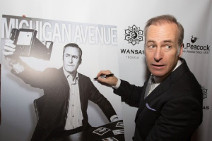 Better Call Saul's Bob Odenkirk signs his Michigan Avenue Magazine cover