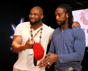 Izzy and Peanut (Israel Idonije and Charles Tillman)